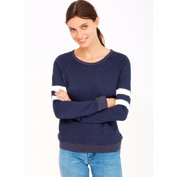 Anthropologie Tops - Sundry Striped Sweatshirt in Navy (size 0, XS)